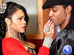 Ebony TS babe Sheeba gets pounded