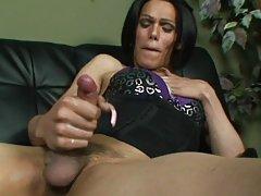 Nasty shemale strokes her huge girlmeat