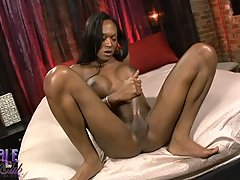 Horny Kayla plays with her black monster